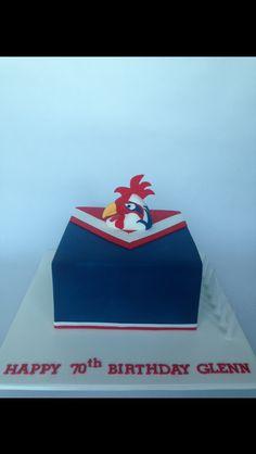 Sydney Roosters Nrl Birthday Cake Footy Food Rugby