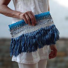 Μοναδικό υφαντό χειροποίητο τσαντάκι φάκελος Boho Style, Boho Fashion, Sequin Skirt, Sequins, Skirts, Bags, Handbags, Bohemian Fashion, Skirt
