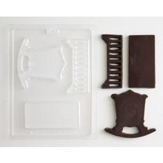 3-D Baby Crib Chocolate Mold Cakegirls