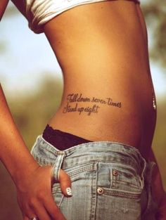 Love this location for a small quote tattoo!!
