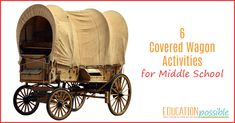 When studying American pioneer history, learn about the mode of transportation with these covered wagon activities as part of your middle school lesson plans. Education Middle School, Middle School History, Elementary Education, Social Studies Notebook, Teaching Social Studies, History Education, Teaching History, Dear Students, American History Lessons