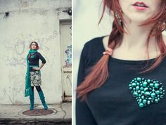 DIY Clothes Refashion: DIY Heart Beads Brooch #diy #clothes #refashion
