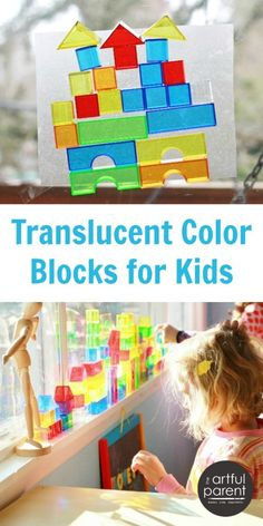 Translucent Plastic Blocks for Kids - So many different ways to use these!