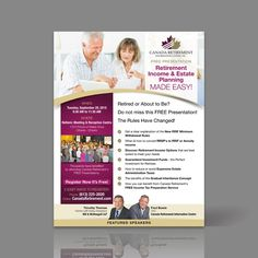 Create a flyer for a Retirement Income