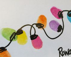 Beneath the Rowan Tree: Christmas Card :: Thumb Print String of Lights. This would be a cute idea for a christmas gift to parents from students. To put on a picture frame? Gifts From Students To Parents, Christmas Gifts For Parents, Winter Christmas, Christmas Holidays, Christmas Ideas, Christmas Lights, Christmas Decorations, Preschool Christmas, Homemade Christmas