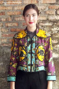 Batik Amarillis's Torera Vol 2 no 1 combining the patterns,colours,brilliance,elegance & luxurious materials intricate to this opulent piece with the androgynous classic .