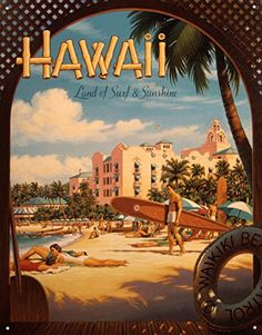 Erickson Hawaii Sun and Surf Sign is a brand new vintage tin sign made to look vintage, old, antique, retro. Purchase your vintage tin sign from the Vintage Sign Shack and save. Vintage Surfing, Surf Vintage, Retro Surf, Vintage Mermaid, Retro Vintage, Fly To Hawaii, Hawaii Travel, Oahu Hawaii, Surf Travel