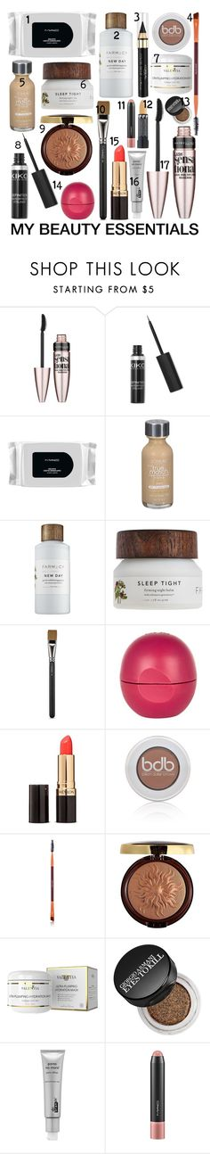 """""""My beauty Essentials"""" by julietacelina on Polyvore featuring beauty, Maybelline, MAC Cosmetics, L'Oréal Paris, River Island, Revlon, Billion Dollar Brows, Physicians Formula, Giorgio Armani and Dr. Brandt"""