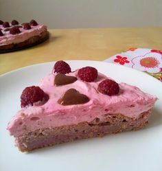 tvarohovo - malinová torta