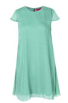 40f7262329d BOOHOO Volné smaragdové šifónové šaty Anna