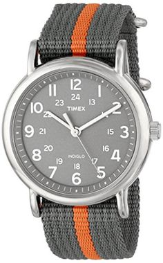 "Timex Unisex T2N649 ""Weekender"" Watch with Gray and Orange Nylon Strap Timex http://www.amazon.com/dp/B004VR9I4C/ref=cm_sw_r_pi_dp_HkR8tb1WXEDR4"