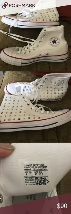 Woman's converse Never worn, woman's studded converse! Converse Shoes Sneakers