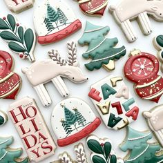 Tree Cookies, Spice Cookies, Cut Out Cookies, Holiday Cookies, Sugar Cookies, Christmas Treat Bags, Christmas Party Food, Christmas Desserts, Christmas Baking
