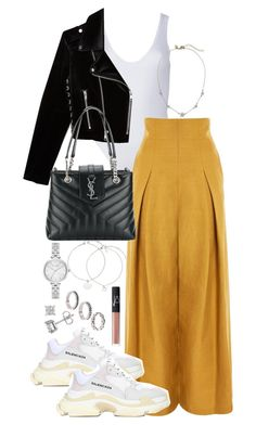Untitled #5394 by theeuropeancloset on Polyvore featuring The Kooples, Topshop, Balenciaga, Yves Saint Laurent, Kate Spade, ASOS and NARS Cosmetics