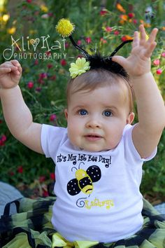 Bumble Bee 1st Birthday Onesie Personalized Party Theme