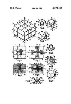 Kubo surinkimas rubic cube pinterest cube rubik cube toy patent print art poster gunmetal grey x malvernweather Image collections