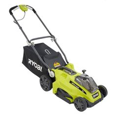Ryobi 16 in. ONE+ Lithium-Ion Hybrid Cordless or Corded Lawn Mower With Ah Lithium+ Battery and Charger Included Ryobi Lawn Mower, Lawn Mower Battery, Cordless Lawn Mower, Lawn Mower Tractor, Best Lawn Mower, Best Riding Lawn Mower, Ryobi Cordless Tools, Grass Cutter, Tractors For Sale