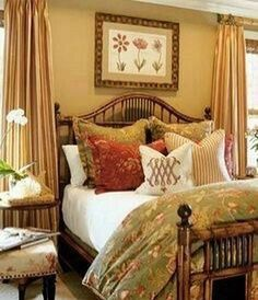bedroom designed by Barclay Butera. if you like this look.like the colors - Modern Bedroom Pretty Bedroom, Cozy Bedroom, Dream Bedroom, Home Decor Bedroom, Bedroom Wall, Bedroom Ideas, French Country Bedrooms, Guest Bedrooms, Guest Room