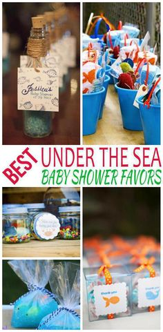 Baby Shower Favors! The best under the sea baby shower favors for new baby boys and girls. Find goodie bags, DIY ideas, cheap, unique, useful and more fun ideas. Find homemade ideas to make that can be used for a co-ed party and that are also neutral. Get amazing baby shower favor ideas now!