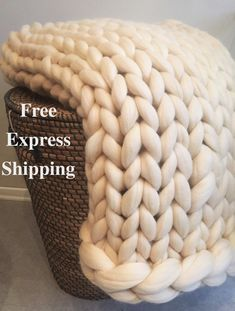 155 Best Chunky Knit Blankets Images In 2019 Knitted Blankets