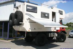 READY TO GO U1300L CAMPER/EXPEDITION VEHICLE with FAST AXLES and OM366 turbo intercooled engine. NEW high speed overdrive in 2012. NEW Michelin 395/85R20 XZL on wide track rims. Incredible condition all round having covered a mere 35000kms from new. Body new in 2012. Fully equipped with solar panels, diesel generator, fully equipped kitchen and shower room. 350 litre fresh water tank. Air conditioning. Too much equipment to list.
