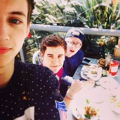 Troye Sivan, Connor Franta, and Tyler Oakley