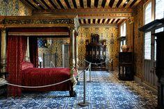 Château de Blois, Chambre de Henri III., selon la légende, celle où le duc de Guise a été assassiné en 1588.