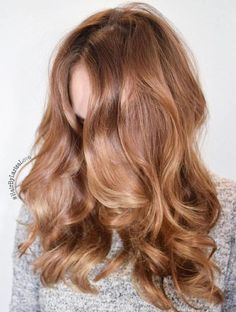 Brown Hair With Strawberry Blonde Balayage