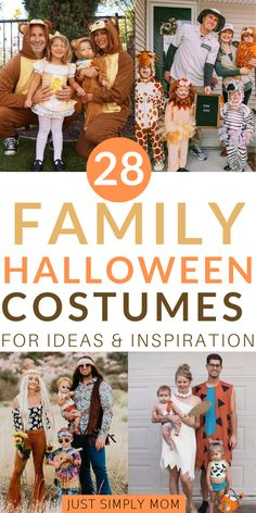 and baby halloween costumes 31 Awesome Family Halloween Costumes That You'll Want to Try Ideas for matching family Halloween costumes. You& find great inspiration here for babies, toddlers, kids, mom & dad who will love these fun, unique costumes. Matching Family Halloween Costumes, Unique Halloween Costumes, Theme Halloween, Halloween Kids, Vintage Halloween, Group Halloween, Costumes For Family, Awesome Halloween Costumes, Creepy Vintage