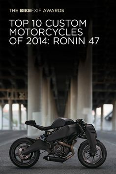 The winners of the 2014 Bike EXIF Awards have just been revealed. This is the Ronin 47, a Buell-powered limited-production machine costing $38,000. Read all about it (and see the other 9 winning bikes) at http://www.bikeexif.com/best-custom-motorcycle-builders