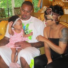 Monica And Shannon Brown w/ Baby Girl