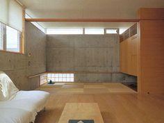 コンクリート×木×障子