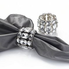 Brilliant Napkin Ring - Set of 4 - Clear | Napkin-rings | Tabletop-and-bar | Z Gallerie