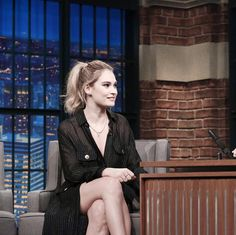 "34 Likes, 1 Comments - Lily James (@proudoflilyjames) on Instagram: ""Visits 'Late Night with Seth Meyers"" — #lilyjames #myqueen"""