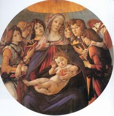 "Sandro Botticelli (Italian, Florence 1445-1510) ""Madonna of the Pomegranate"""