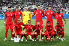 The England team are seen prior to the 2018 FIFA World Cup Russia group G match between Tunisia and England at Volgograd Arena on June 18 2018 in. England National Football Team, England Football, National Football Teams, England Fans, England Players, Steven Gerrard, England World Cup 2018, Premier League, World Cup 2018 Groups