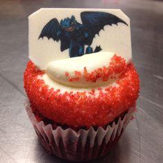 Dragon fire cupcake