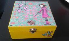 scatola dipinta a mano scatola carta,legno dipinto a mano