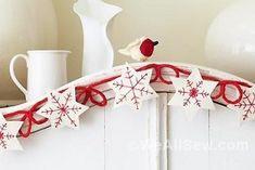 WeAllSew For The Holidays: DIY Festive Ornaments and Garland › WeAllSew