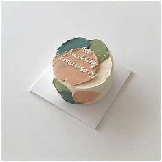 Pretty Birthday Cakes, My Birthday Cake, Birthday Cake Decorating, Pretty Cakes, Beautiful Cakes, Simple Cake Designs, Simple Cakes, Korean Cake, Pastel Cakes