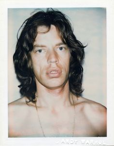 Mick Jagger, Polaroid by Andy Warhol Joe Dallesandro, Andy Warhol Pop Art, Andy Warhol Museum, Robert Mapplethorpe, Andy Warhol Photography, Art Photography, Jean Michel Basquiat, Joan Collins, Keith Haring