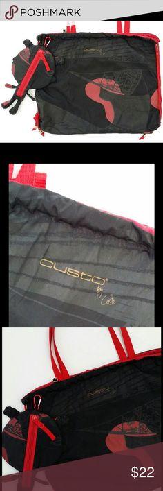 Custo Barcelona bag Custo Barcelona nylon bag in black, gray, and red print. Includes large hang pocket with zipper. Drawstring at top. Bags Hobos