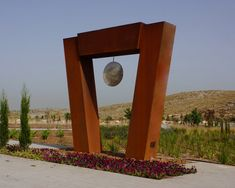 This sculpture was commissioned to be located near the Western entry to the City of Modiin, Israel. Creating A Portfolio, Monthly Themes, Corten Steel, Outdoor Sculpture, Global Art, Public Art, Geography, Israel, Design Art