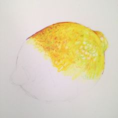 Learn to paint a lemon as part of Kate Clarke's Still Life Textures Course coming soon to ArtTutor