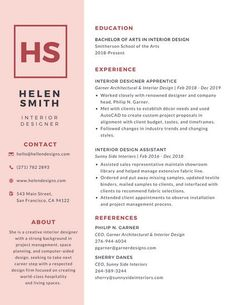 Image Result For Graphic Design Resumes One Column  Resume