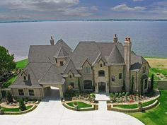 magnificent waterfront home