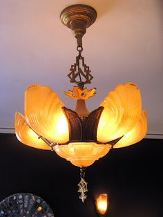 vintage art deco slip shade light artistic lighting fixtures