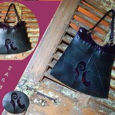 Mode sac à main en chambre à air création unique et originale zagmoun