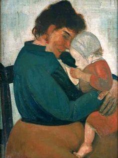 love this painting by Permeke #breastfeeding