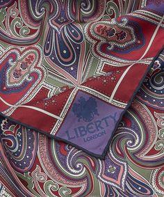 Harlequin Paisley 90 x 90cm Silk Twill Foulard Scarf